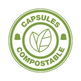 Compostable capsule coffee